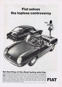 1967 Advertisement - FIAT MODELS 850 SPIDER & 850 COUPE