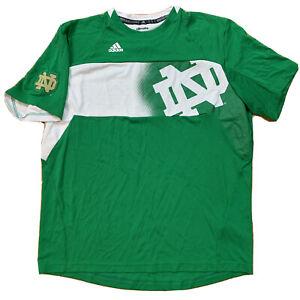 NOTRE DAME Fighting IRISH Men ClimaLite Green Soccer Jersey Shirt XL Adidas EUC