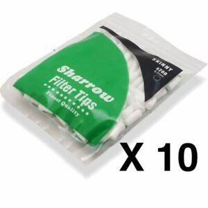 NEW 10 Sharrow Filter Tips Skinny 360 10 Packets x 360 = 3600 Filter Tips