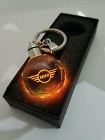 MINI  Keyring Crystal LED Light Gift Pouch Keychains COOPER XMAS PRESENT