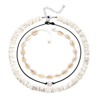 Cowrie Shell Necklace Seashell Choker Necklace Set Puka for Summer Women Gift