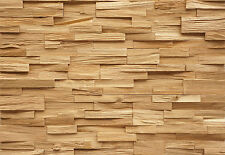 Wall Panels Cladding Splitted Solid Oak Wood Paneling 3D Vintage Deja vu
