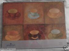 """PIMPERNEL """"TEACUP MOSAIC LARGE TABLE MATS SET 4 39.5cm x 29.5cm X0050648007 NEW"""