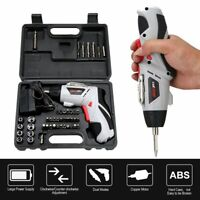 45PC Rechargeable Wireless Cordless Electric Screwdriver Drill Kit Power Tool US