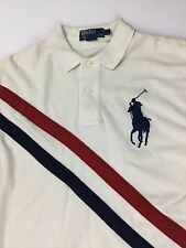 Men's Polo Ralph Lauren Rugby Red White And Blue Size Small Shirt Sleeve