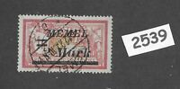 Used stamp / 1920s Memel 2Mark on 1Fr overprint / Lithuania / Prussia Germany