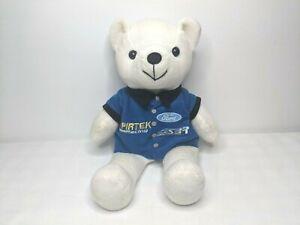 FORD racing Pirtek branded beanie style white bear blue embroidered shirt 32cm