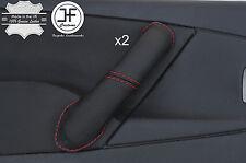 Red Stitch 2X Avant Poignée Porte Couverture en cuir pour CITROEN XSARA PICASSO 04-10