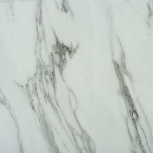 5 Pack Self Adhesive Premium Marble Vinyl Flooring Tile Kitchen Bathroom 5m²