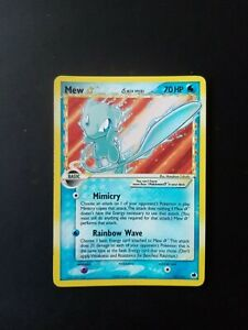 Pokemon Card Mew Gold Star Holo 101/101 Ex Dragon Frontiers Delta Species
