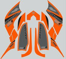 Graphics for Yamaha Raptor 660 660R ATV  decals stickers  Orange
