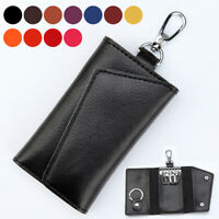 AU_ BL_ Men's Multifunctional Faux Leather Key Case Women's Holder Pouch Wallet