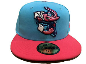 New Era Jacksonville Jumbo Shrimp Aqua/Pink Miami Vice Nights On-Field Cap Hat