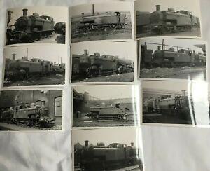 Lot of 10 Photographs Of 9700 Class Steam Locomotives