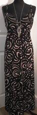 Jasper Conran grey and black patterned strappy long dress size 14