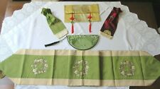 Chinese Embroidered Table Runner & 4 Other Decorative Items - New/Excellent