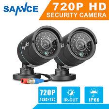 SANNCE 2x1500TVL 720P CCTV Camera IR Indoor Outdoor Security Surveillance System