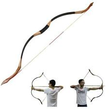 45lbs Traditional Recurve Bow Horse Bow Practice Longbow Archery Outdoor Hunting
