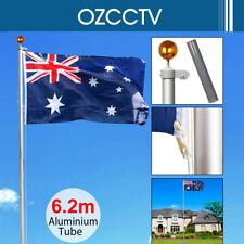 6.2M Aluminium Australian Aussie Flag PoleFlagpole Set AU Stock