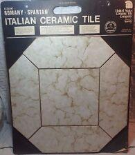Vtg MID CENTURY ELEGANT ROMANY SPARTAN Italian CERAMIC TILE SAMPLE BOARD L808