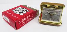 vintage alarm clock - Edler Quartzwerk Reisewecker Europa Wecker ovp.Uhr ~60er