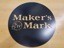 Maker's Mark Metal Wall Art Plasma Cut Home Decor Gift Idea Bourbon Whiskey