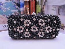 NEW - Fashion Black Pearl Hand/Clutch Bag