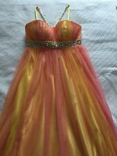 2012 Fantastic Finds Collection Multicolored Full-Length Gown Prom Dress Size 4