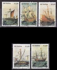 kompl.ausg. Guyana 3292-3296 Gestempelt 1990 Schiffe
