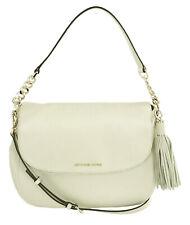 Michael Kors Shoulder Cross Body Bag Satchel Bedford Ecru White Medium Handbag