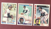 1982 Topps #500 Rod Carew NM-MT + 1983 + 1984 ~ Lot of (3)!