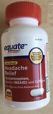 Extra-strength Headache Relief Tablets 200ct New Bottle Equate *Excedrin compare