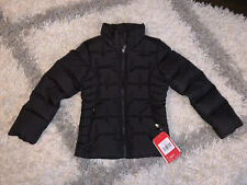 North Face Girls Youth Aconcagua Down Jacket Puffy Coat Black New W/Tags 7/8 S/P
