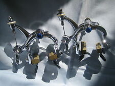 campagnolo brake calipers super record cobalto chrome plated bremszangen