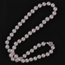 Real Freshwater Cultured Pearl Necklace 8-9mm (Flower)