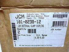 "(NEW) JCM 2"" Universal Clamp/Coupling P/N 101-0238-12 box of 2 units"
