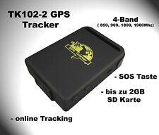 GPS Tracker TK102-2 TK102 2 Ortung GSM Peilsender / 4-Band / 2GB Speicher Slot