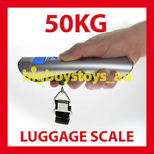 DIGITAL LUGGAGE SCALES ELECTRONIC PORTABLE TRAVEL 50KG * 12 MONTH WARRANTY
