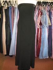 DEBUT/DEBENHAMS BLACK CUFF BRIDESMAID/PROM/EVENING/CRUISE/BALLGOWN DRESS 10/12