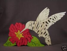 Hummingbird Wooden Scroll Saw Puzzle Amish Made Toy NEW