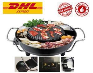 "14"" Mookata Thai Korean BBQ Grill Electric Set Pan Teflon Black Top Hot Gr 175"