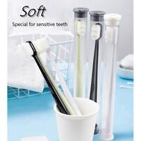 Brosse à dents en bambou Poignée ABS Poil moyen doux Soins bucco-dentaires