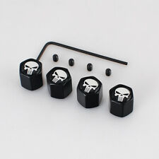 Punisher Skull Logo Car Dust Air Wheel Tyre Tire Valve Cap Stem Cover Anti-Theft