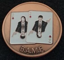 LIMITED ED Pulp Fiction BAMF Texas Hold'em Poker WSOP Card Guard Challenge Coin