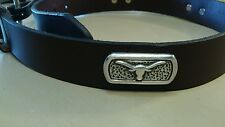 Men's Brown Genuine Leather Belt with University of Texas Longhorns Conchos 24 R