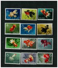 VR China 1960 Goldfische Michel-Nr: 534-545 gestemelt