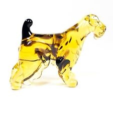Figurine Glass Irish Terrier. Murano Art. Miniature handmade dog. See VIDEO.