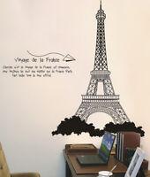Wandaufkleber Wandtattoo Wandsticker Wanddeko Wallsticker Eiffel Tower WAG-050