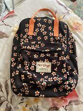 Fjallraven Kanken Dupe Orange Flower Backpack On Black+ Back Zipper
