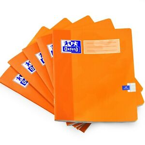 Oxford A5 School Exercise Book - 8mm Lined - 48 Pages - Orange - Pack of 10